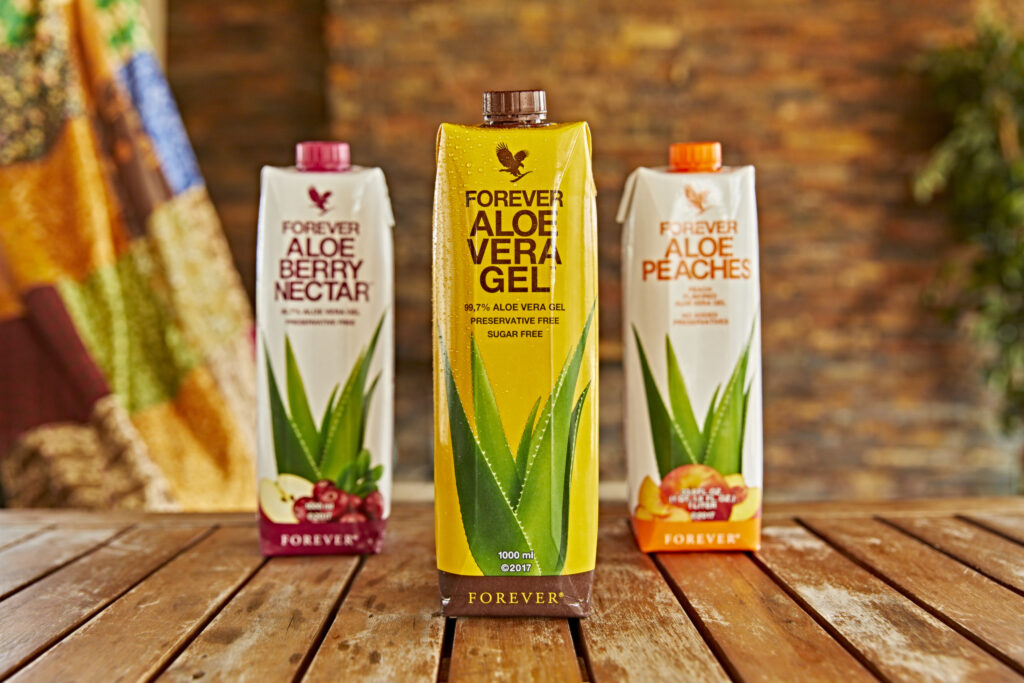 Kosttilskud Forever Aloe Vera Drikke, drikken der plejer din krop både indvendigt og udvendigt