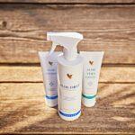 Produkter uundværlige om sommeren - Aloe Vera Gelly, Aloe First og Aloe Lotion