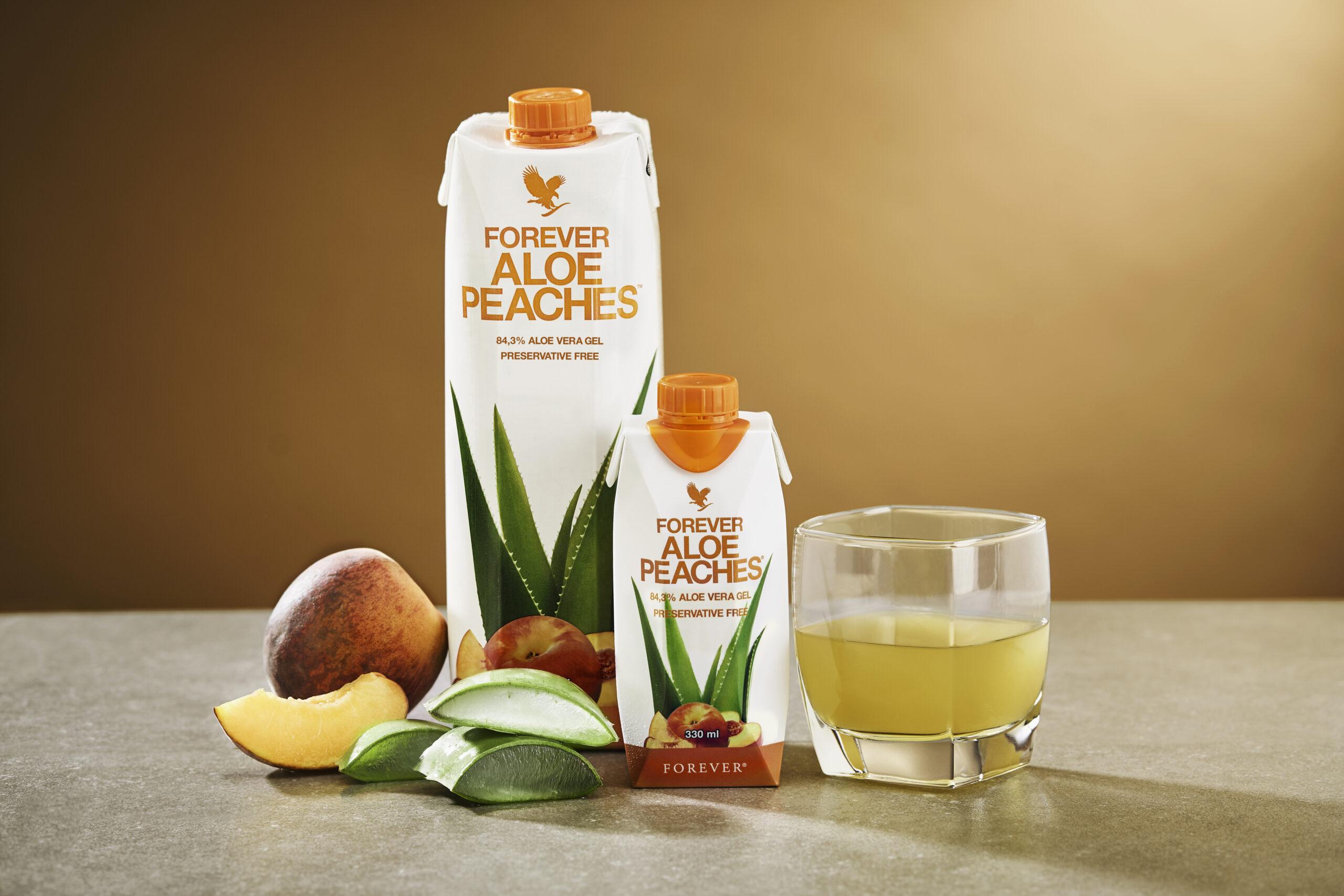 Aloe Vera Drikke Gel, få hver 10. gratis af Forever Aloe Peaches