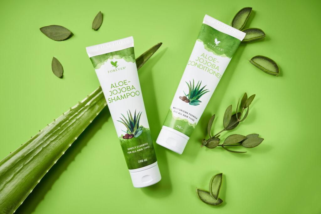 Hårpleje aloe vera Forever produkter, Aloe-Jojoba Shampoo og balsam