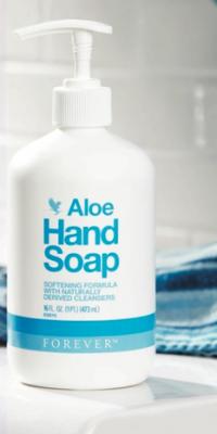 Aloe Hand Soap, en lækker flydende cremesæbe fra Forever.
