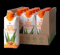 12 pakning Forever Aloe Peaches Drikke Gel kosttilskud