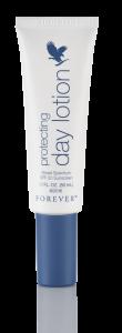 Hudpleje Aloe Vera, Protecting Day Lotion SPF 20 Forever, dagcreme med solfaktor, let at stryge på huden